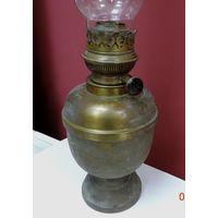 Лампа керосиновая 20-30-е годы. Высота без стекла 24 см. Латунь.