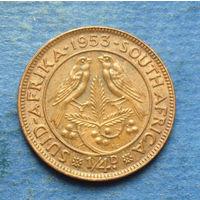 Южная Африка Британский доминион 1/4 пенни (фартинг) 1953