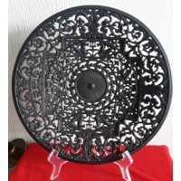 Buderus.Редкая,ажурная чугунная тарелка.27,8 см
