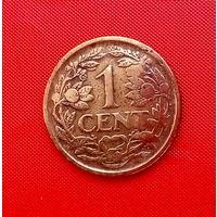 08-08 Нидерланды, 1 цент 1920 г.