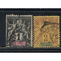 Fr Колонии Гваделупа 1892 Вып Мир и Торговля Стандарт #27-8