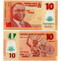 Нигерия. 10 найра (образца 2013 года, P39d, UNC)