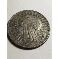 5 злотых 1934 Монета. Польша. Ядвига