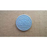 Франция 50 сантимов, 1942г. (U)