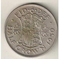 Великобритания 1/2 крона 1950 2
