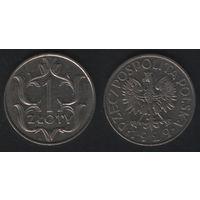 Польша ___y14 1 злотый 1929 год (h03)