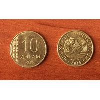 Таджикистан 10 дирамов 2015