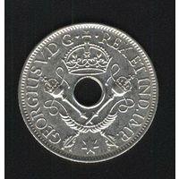Британская Новая Гвинея 1 шиллинг 1936 г. Серебро.