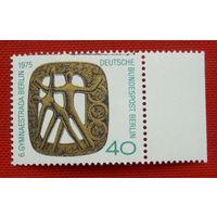 Германия. Западный Берлин. Гимнастика. ( 1 марка ) 1975 года.