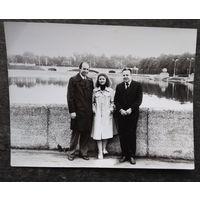 Минск. На набережной Свислочи. Фото 1960-х. 9х12 см.