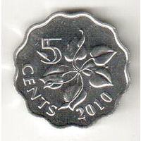 Свазиленд 5 цент 2010