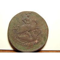 Монета-2 копейки 1765г.(перечекан) СПМ.