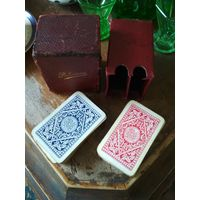 Карты игральные довоенные миниатюрные 20-30-гг. Европа покер комплект из 2-х колод