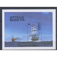 [1784] Антигуа и Барбуда 1984. Корабли,парусники. БЛОК.