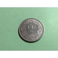 Швейцария 1 франк 1992