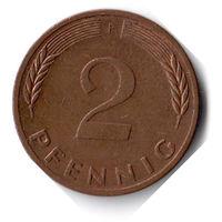 Германия. 2 пфеннига. 1980 F