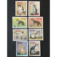 Кошки. Вьетнам,1979,серия 8 марок(б/перф)