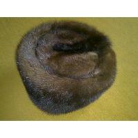 Норка, норковая женская зимняя шапка, натуральный мех, обхват 52см.