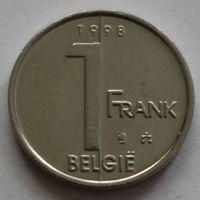 Бельгия, 1 франк 1998 г. 'BELGIE'