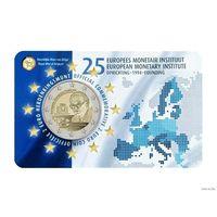 2 евро 2019 Бельгия Европейский валютный институт BU Новинка!!!