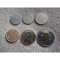 Намибия набор 6 монет 2000-2015 UNC