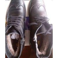 Ботинки Мужские Зимние меховые VITO Finland, 42раз., черные, новые ; 175 руб