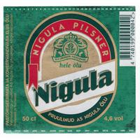 Этикетка пива НИГУЛА (Эстония) б/у