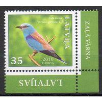 Птицы Латвия 2010 год 1 чистая марка