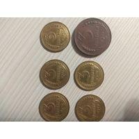 Монеты 3 копейки СССР 1924, 1926, 1927, 1928, 1929, 1930г.