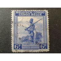Конго 1942 колония Бельгии солдат, на посту