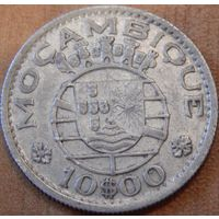 13. Мозамбик Португальский 10 эскудо 1955 год, серебро*