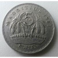 Маврикий 5 рупий 1987