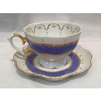 Чашка с блюдцем (чайная пара) небесный Шарм, Добруш