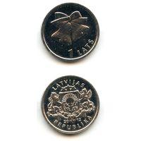 Латвия 1 лат 2012 г. (Колокольчики, колокольчик) KM#136