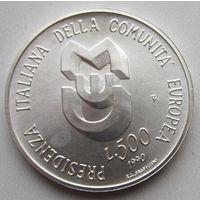 Италия, 500 лир, 1990, серебро