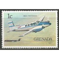 Гренада. Самолёт Твин Бонанза. 1976г. Mi#784.