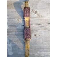 Кожаный браслет на часы,СССР,как новый
