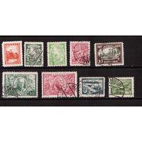 Латвия-1928-1938,(Мих.) гаш., лот марок