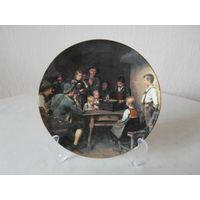Тарелка настенная фарфор Музыкальная шкатулка Lilien Porzellan Австрия художник Franz von Defregger, Bradex.