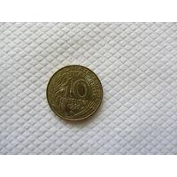 10 сантимов 1997 Франция KM# 929 алюминиевая бронза