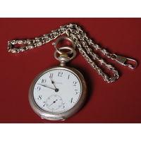 Швейцарские старинные серебряные часы ZENITH. Отличный ход!