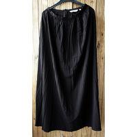Длинная черная легкая юбка 42-44