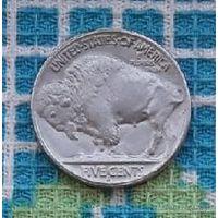 США 5 центов 1914 года, S. Бизон Буффало. Индеец.