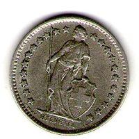 Швейцария 1/2 франка 1962 года.