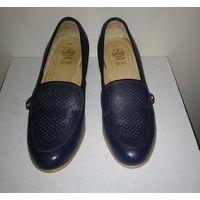 Винтажные туфли из натуральной кожи. Чехословакия 80-е годы. Размер 37