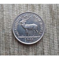 Маврикий 1/2 рупии 2007