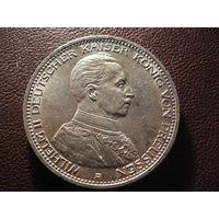 5 марок 1913 г. Вильгельм II. Мундир. (серебро. - 27,8 г.)