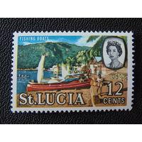 Сент-Люсия 1964 г. Королева Елизавета II.