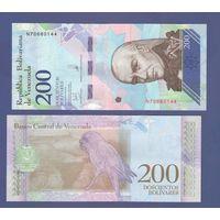 """Банкнота Венесуэла 200 боливаров 2018 UNC ПРЕСС новый деноминированный """"суверенный"""" боливар"""