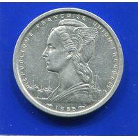 Французская Западная Африка 2 франка 1955